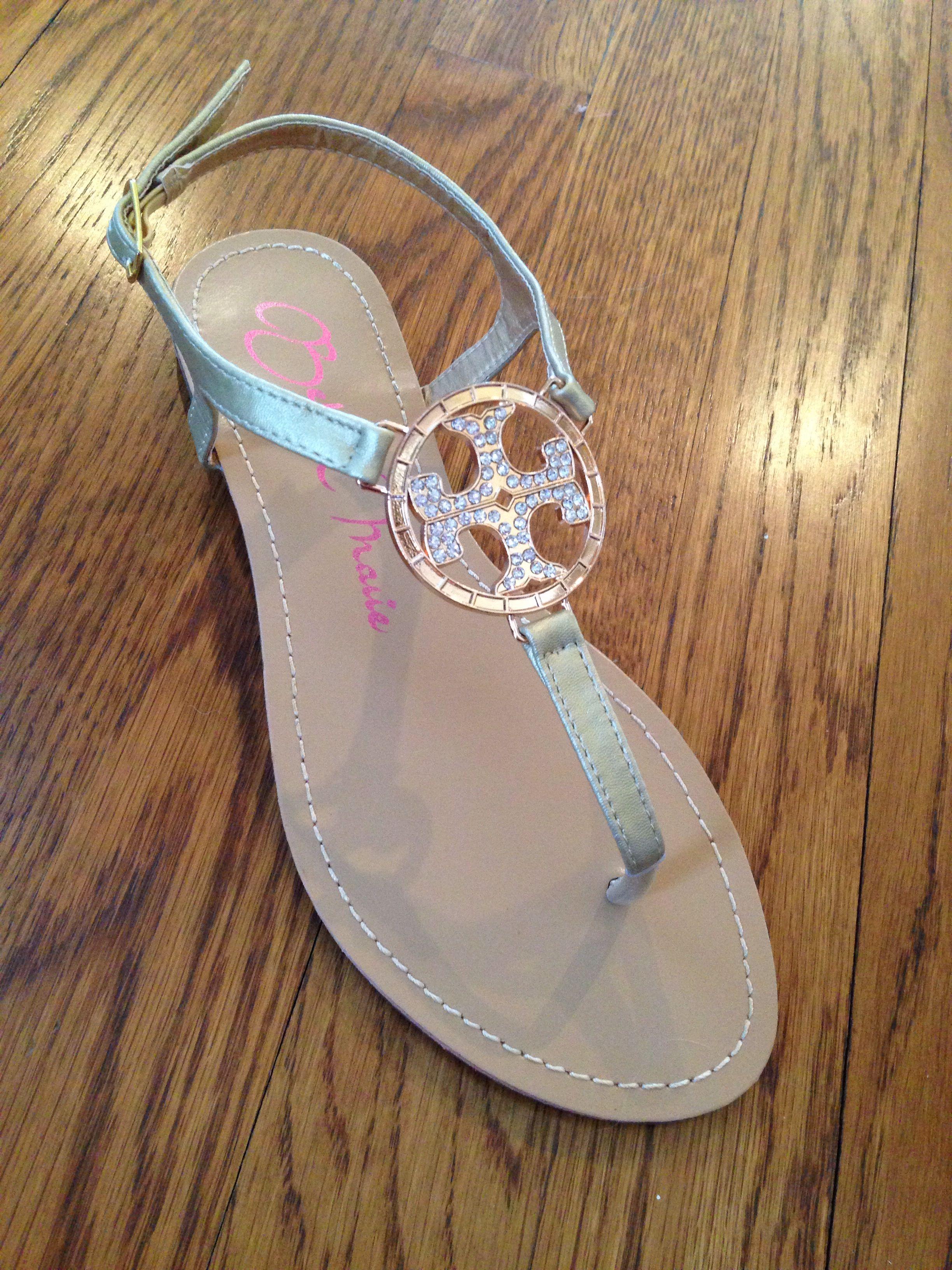 402e226fa8a4a Tory Burch inspired sandals  30 Facebook.com carolinacoutureboutique ...