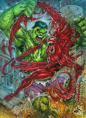 #Hulk #Fan #Art. (Marvel Premier - Hulk Vs Carnage) By: Julio Naranjo. ÅWESOMENESS!!!™ ÅÅÅ+