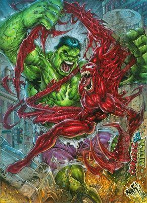 #Hulk #Fan #Art. (Marvel Premier - Hulk Vs Carnage) By: JulioNaranjo. ÅWESOMENESS!!!™ ÅÅÅ+
