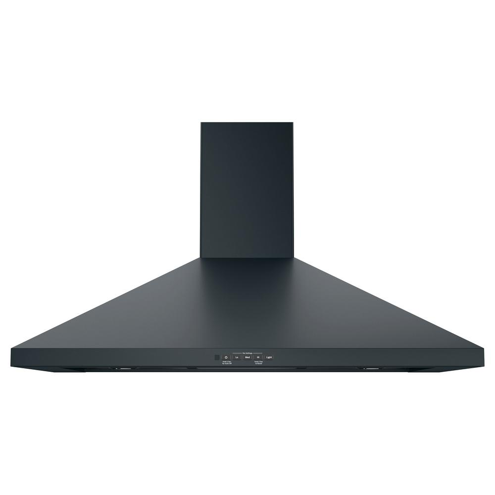 Ge 36 In Convertible Wall Mount Range Hood With Light In Black Slate Fingerprint Resistant Jvw5361fjds The Home Depot Wall Mount Range Hood Range Hood Chimney Range Hood