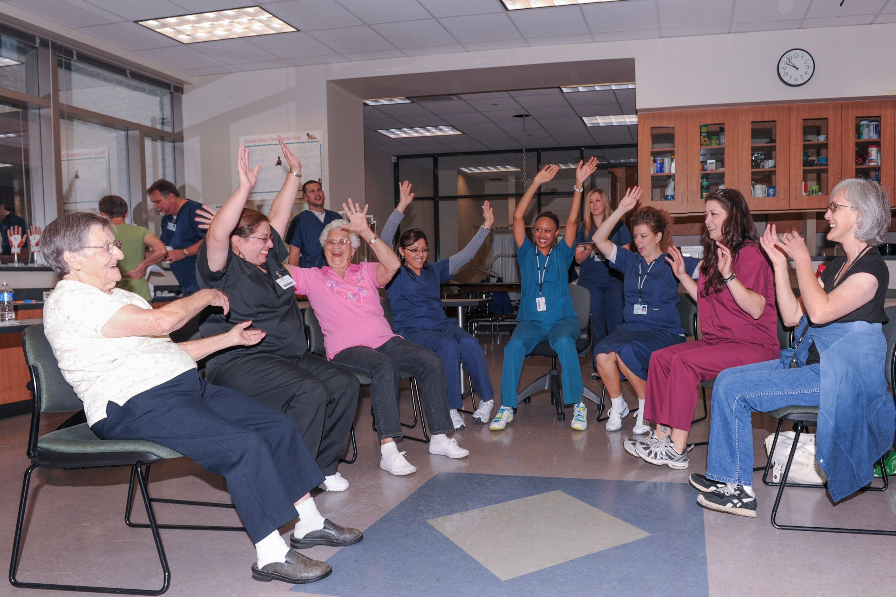 Occupational Therapy Assistant Students Work With Ota Patients To