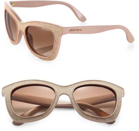 Flash Glittercoated Sunglasses by Jimmy Choo