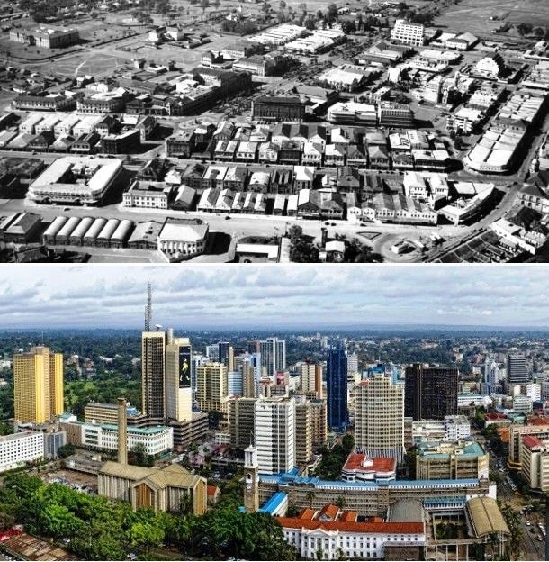 Nairobi in Kenya during early 1960's compare to now. ️
