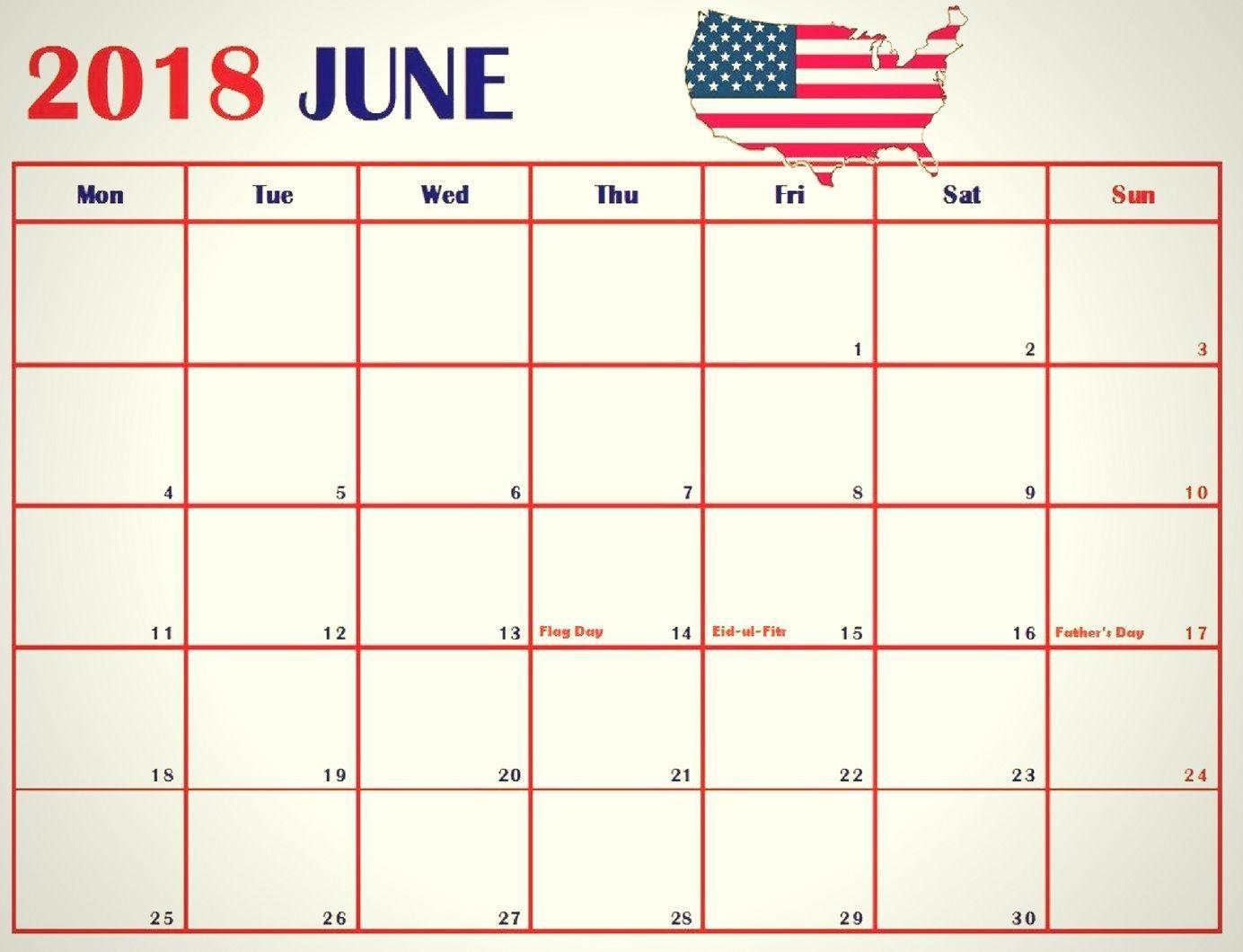 June 2018 Calendar USA Printable | Calendar, Calendar ...