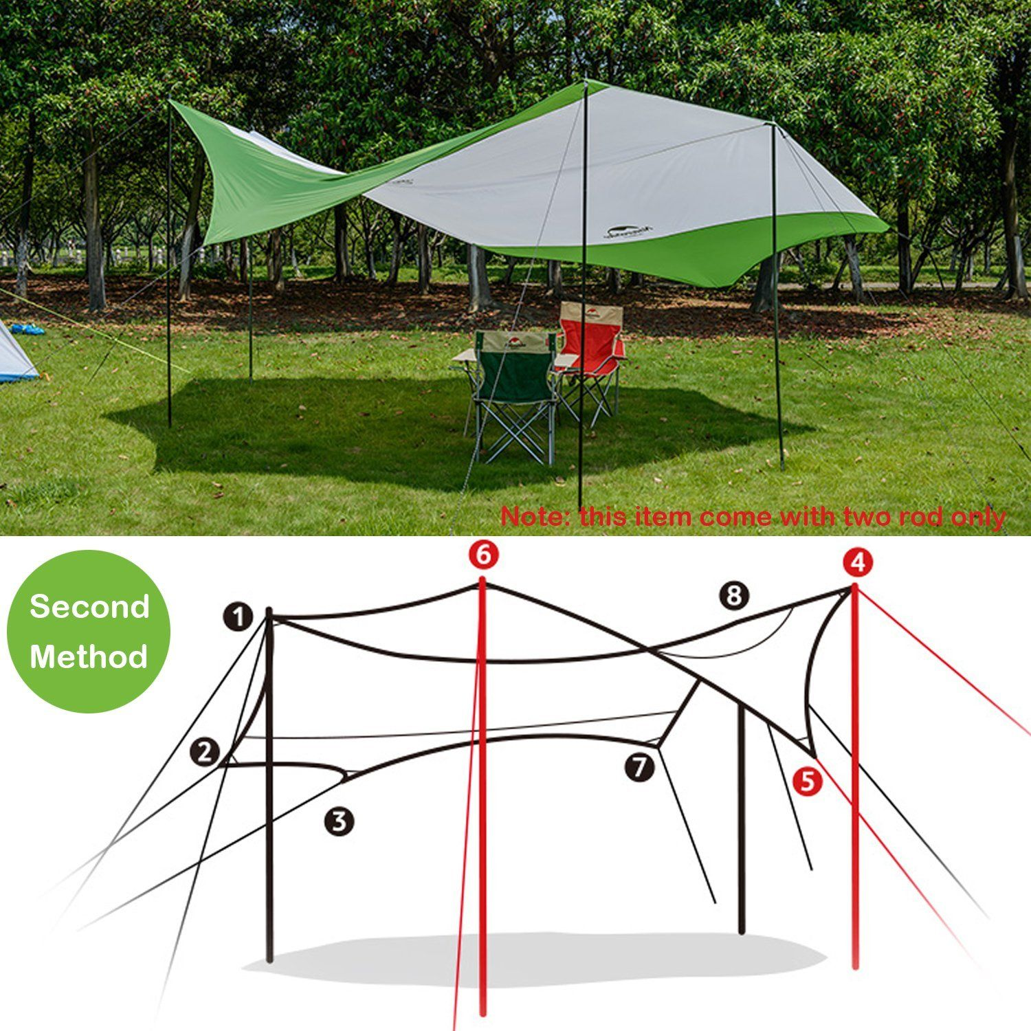 of brylanehome awning up full attached lounge uk size with folding comfy camp instant copa chairs pop outdoor premium beach canopy lime chaise kelsyus wooden chair tent