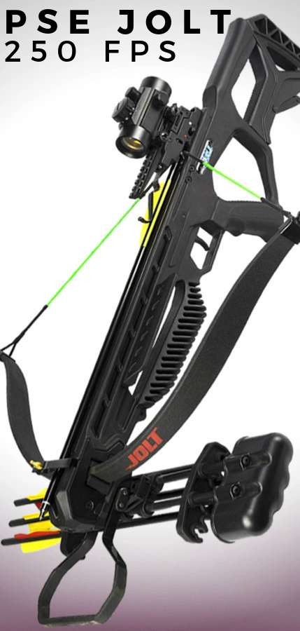PSE Archery Jolt Hunting Crossbow Package 250 FPS  FREE
