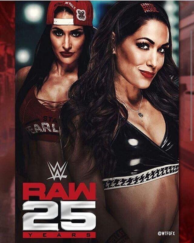 The Bella Twins Is Coming To Raw 25 Luchadoras Wwe Lucha
