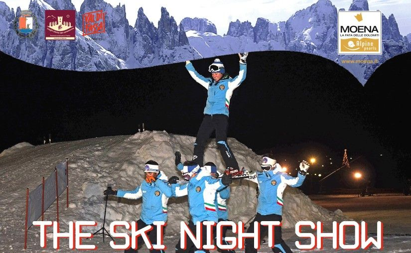 Valle di Fassa, Ski night show al passo S. Pellegrino