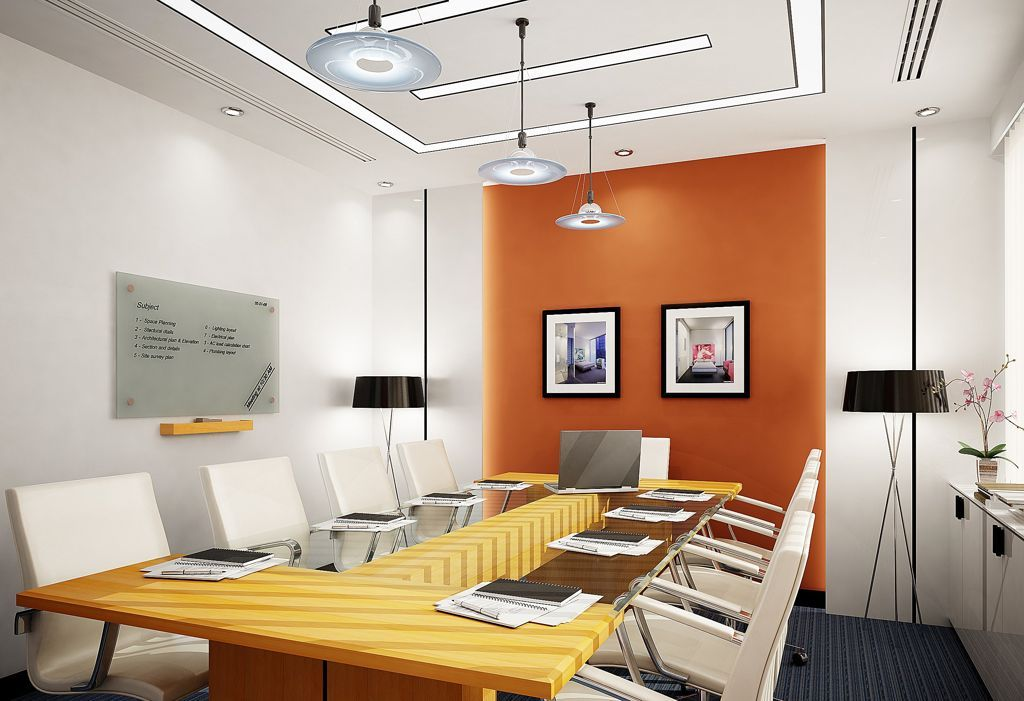 attractive modern meeting room office interior design white office