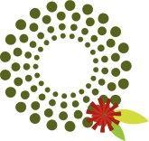 Christmas wreath modern. Dot clipart what a