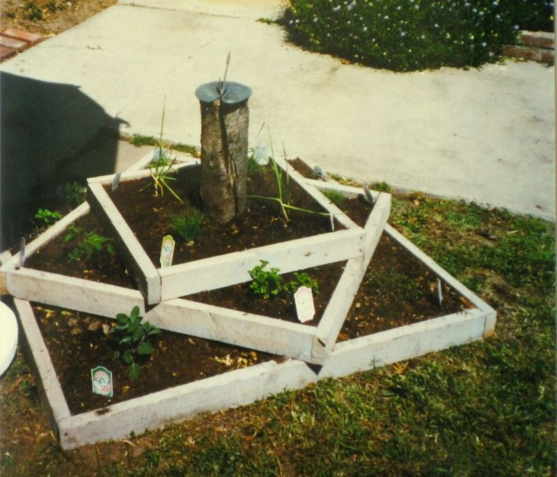 Tiered raised beds for herbs. I like this style! Herb