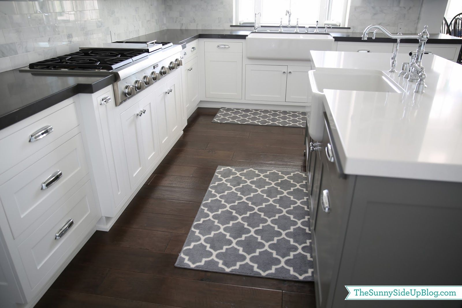 Priorities And New Kitchen Rugs The Sunny Side Up Blog Grey Kitchen Floor Kitchen Rugs Sink Kitchen Rug