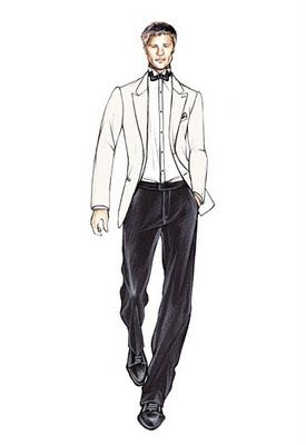 """Armani Sketch """" I just love how the pants fit in this drawing"""""""