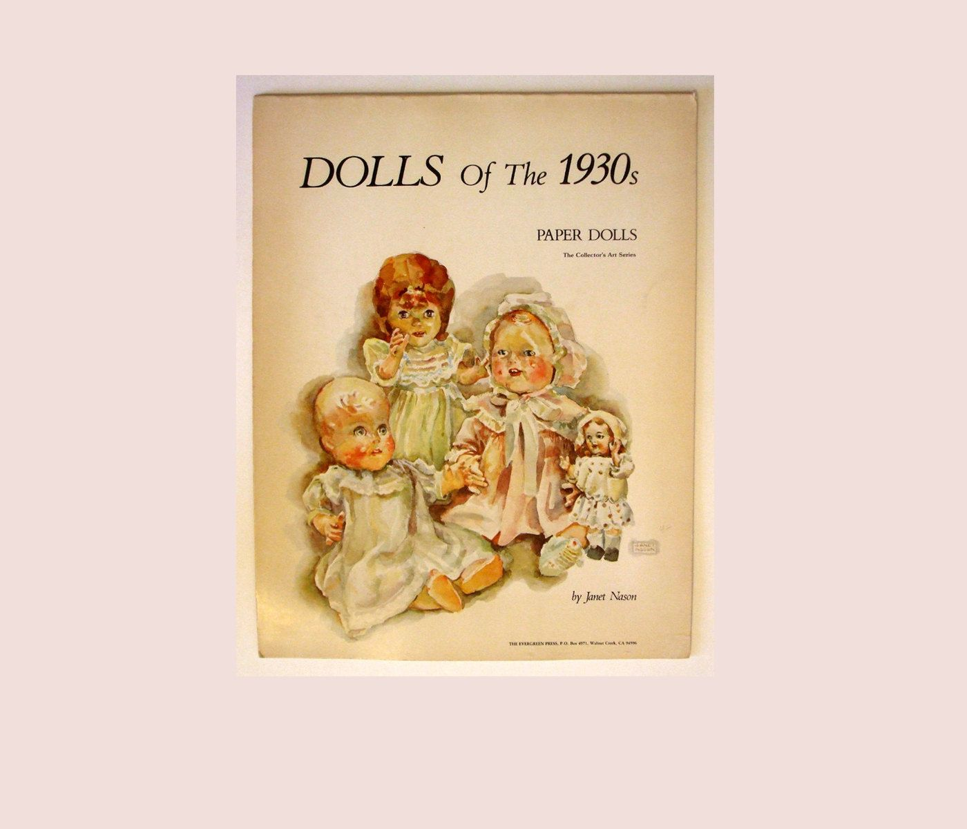 Paper Dolls of the 1930's - 1976 Printing Janet Nason and Athena Publishing Co. by AntiquesNOldies on Etsy