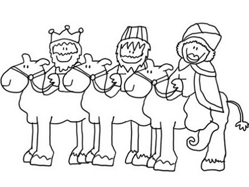 dibujos para colorear reyes magos  reyes  Pinterest ...