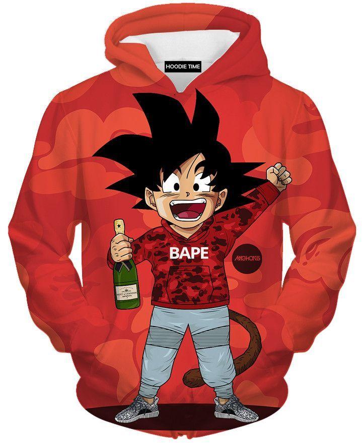00cb932b Dragon Ball Z Hoodies - Kid Goku Bape Hoodie - DBZ CLOTHING | Jacobs ...