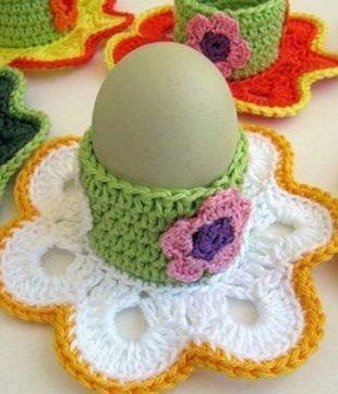 подставка под яйца крючком вязание крючком пасха пасхальные