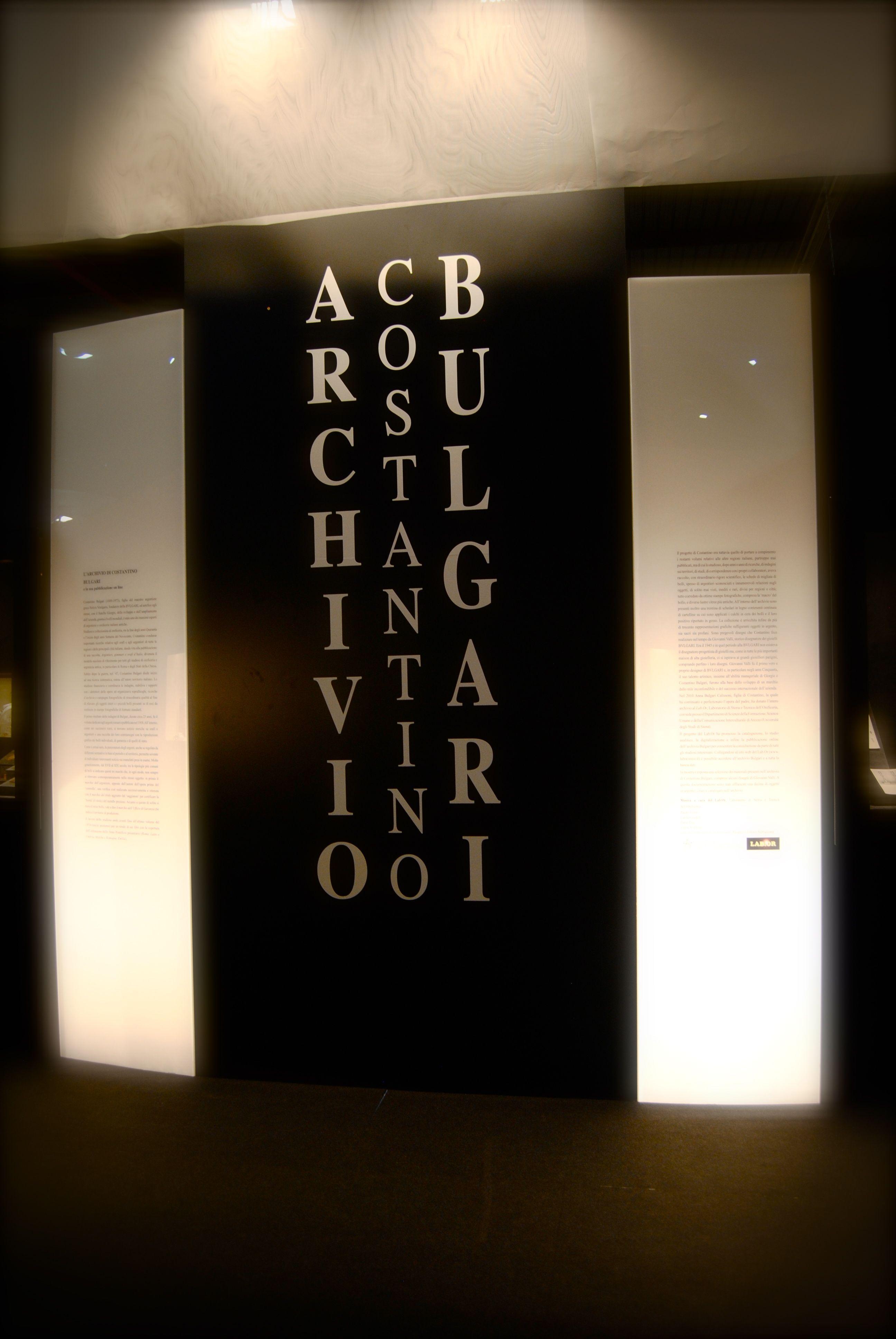 stand archivio costantino bulgari