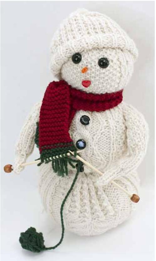 Free Knitting Pattern for Swow Knitter - Frost Flower is a stuffed ...