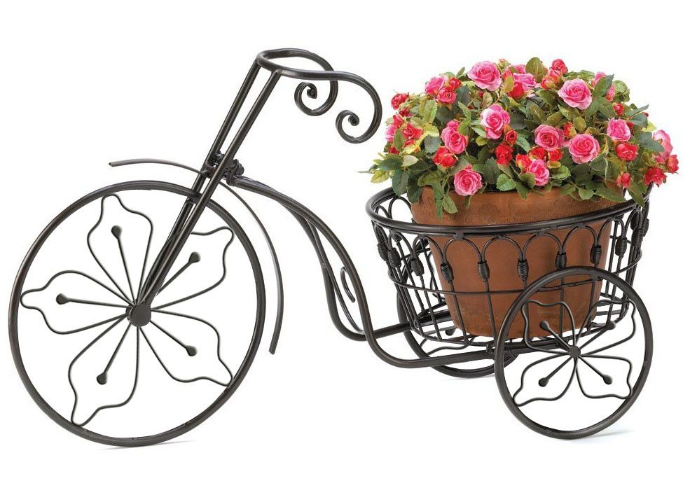 Nostalgic Styling Blooms To Life When You Add Your Favorite Plant To This  Whimsical Bicycle Planter Stand. Perfect For Displaying In A Garden Or On A  ...