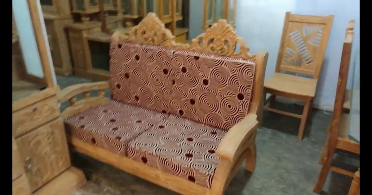 New Collection Of Showcase Segun Wood Bangladesh Furniture Smart Wood Bed Modern Wooden Sofa Clickbd Best Solid In 2020 Sofa Design Wood Sofa Design Wooden Sofa Set
