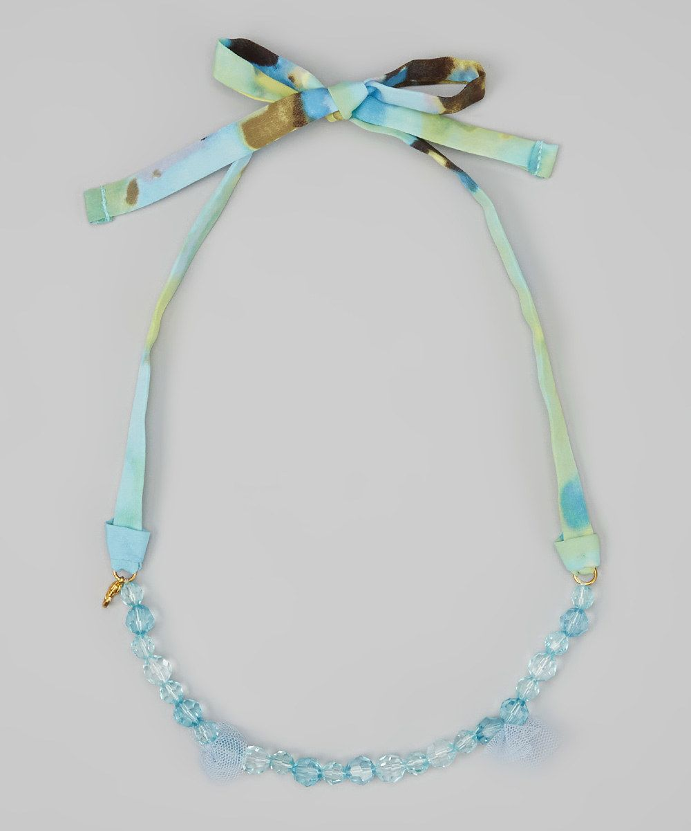 Blue Bead Watercolor Necklace