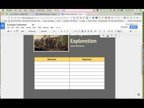 How To Start A New Multimedia Text Set Or A HyperDoc From A Blank - Start a new google doc