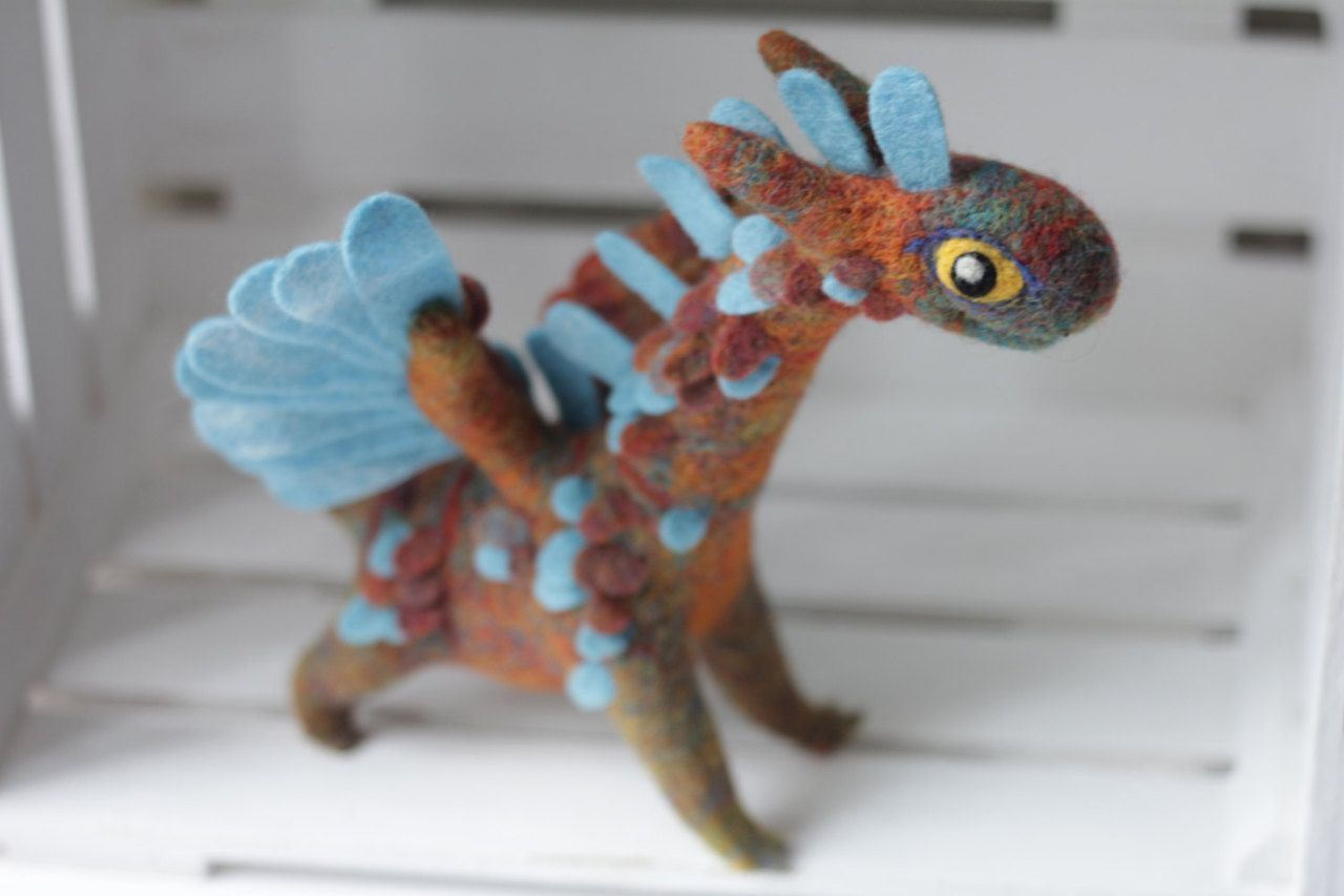 Felted dragons  sosuperawesome: