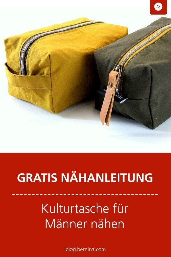 Culture for men BERNINA Blog  Free sewing instructions for a toiletry bag for men Nä