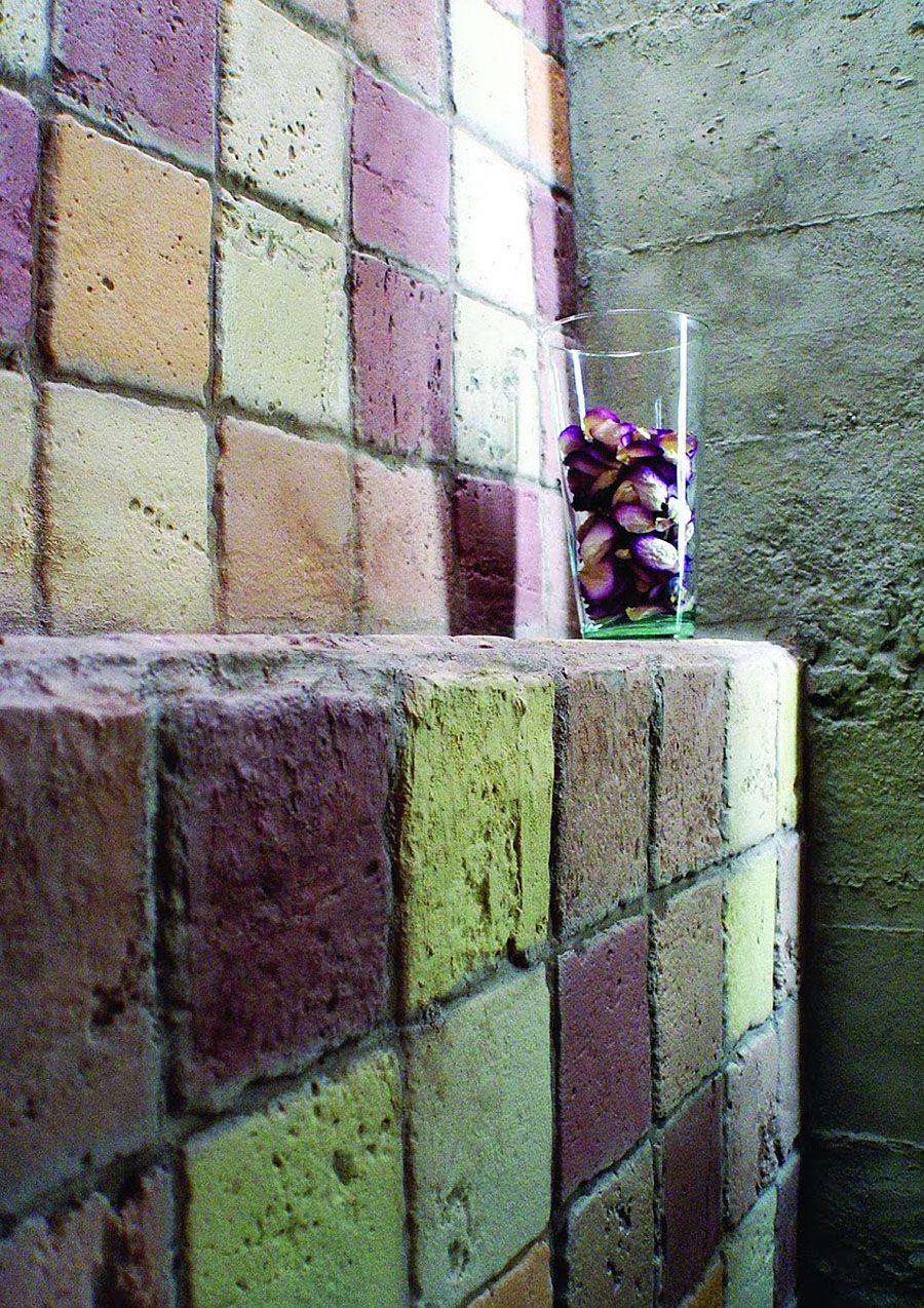 Badezimmer Steinpaneel | Badezimmer mit Steinwand | Pinterest ...