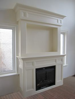 fireplace mantel used high on wall | Wall Mount Electric ...