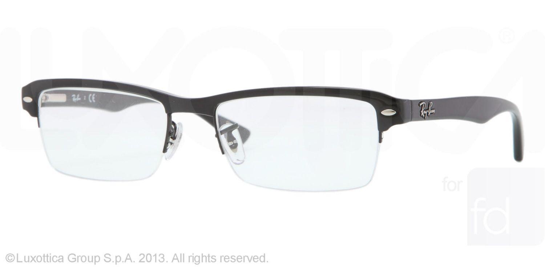 RayBan - Eyeglasses - RX7014 - Men\'s - Semi Rimless Frame | glasses ...