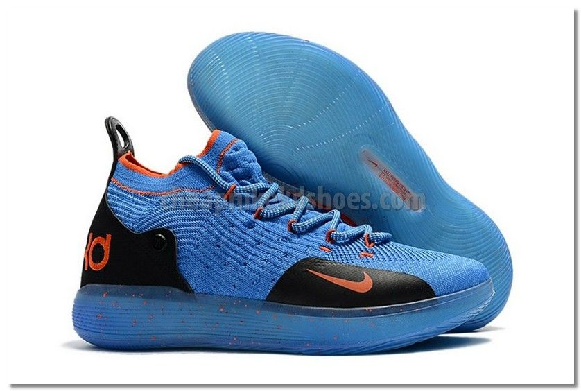 classic styles new product order Cheap Nike KD 11 Blue Orange Shoes Sale With Wholesale Price ...
