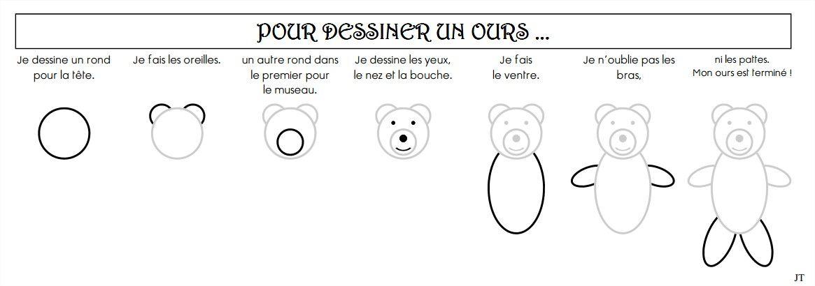 Comment dessiner un ours cliquer a animaux ours - Moustaches maternelle ...