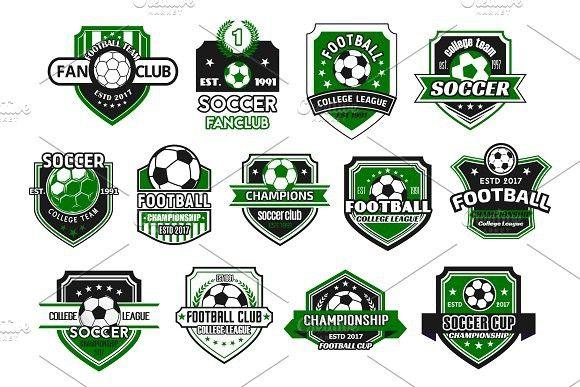 Soccer Sport Club And Football Team Shield Badge Banner