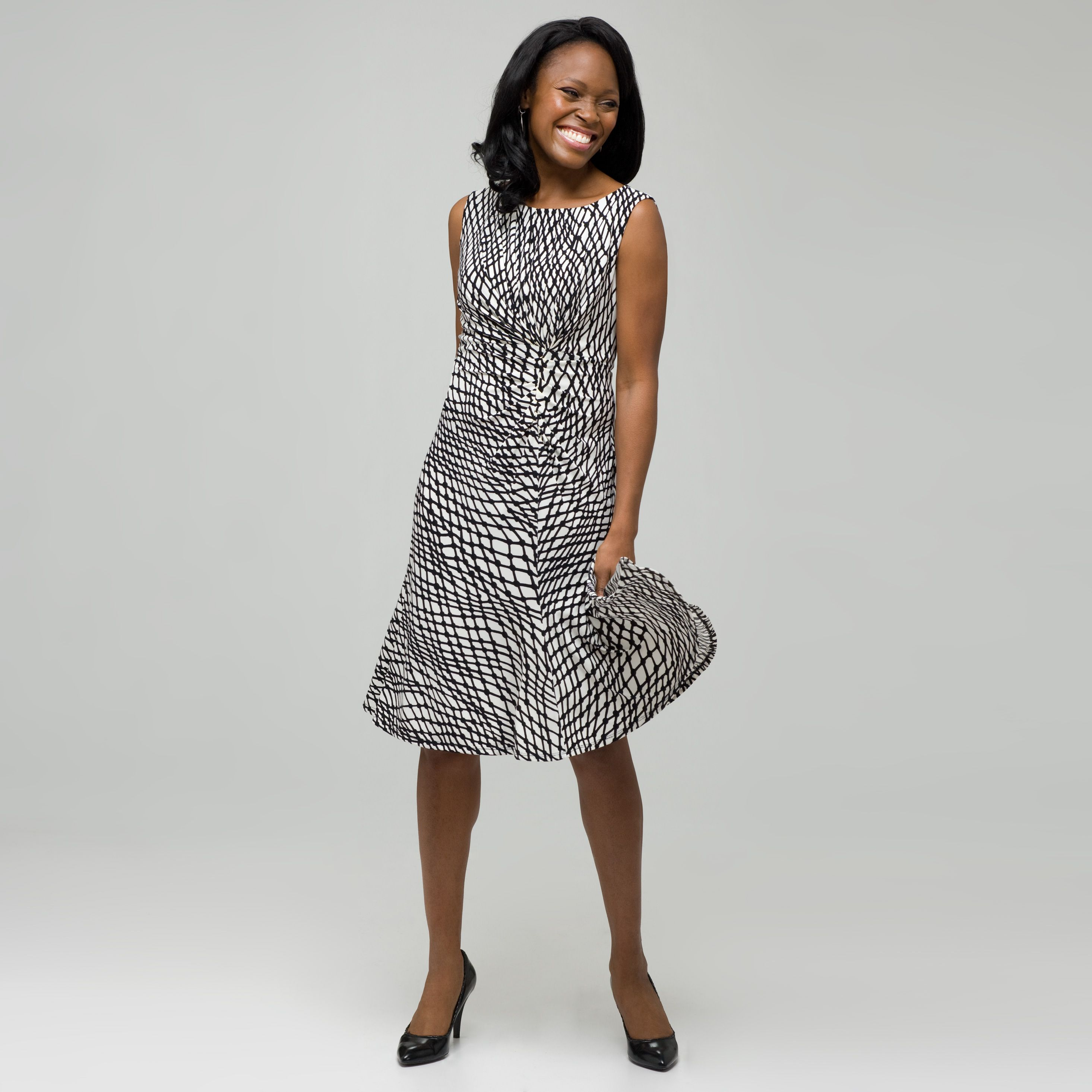 8c65f3b61b Top 10 Dress Styles for Women Over 50 1  FULLER SKIRT Dresses that are  fitted on top and flare on bottom (ie