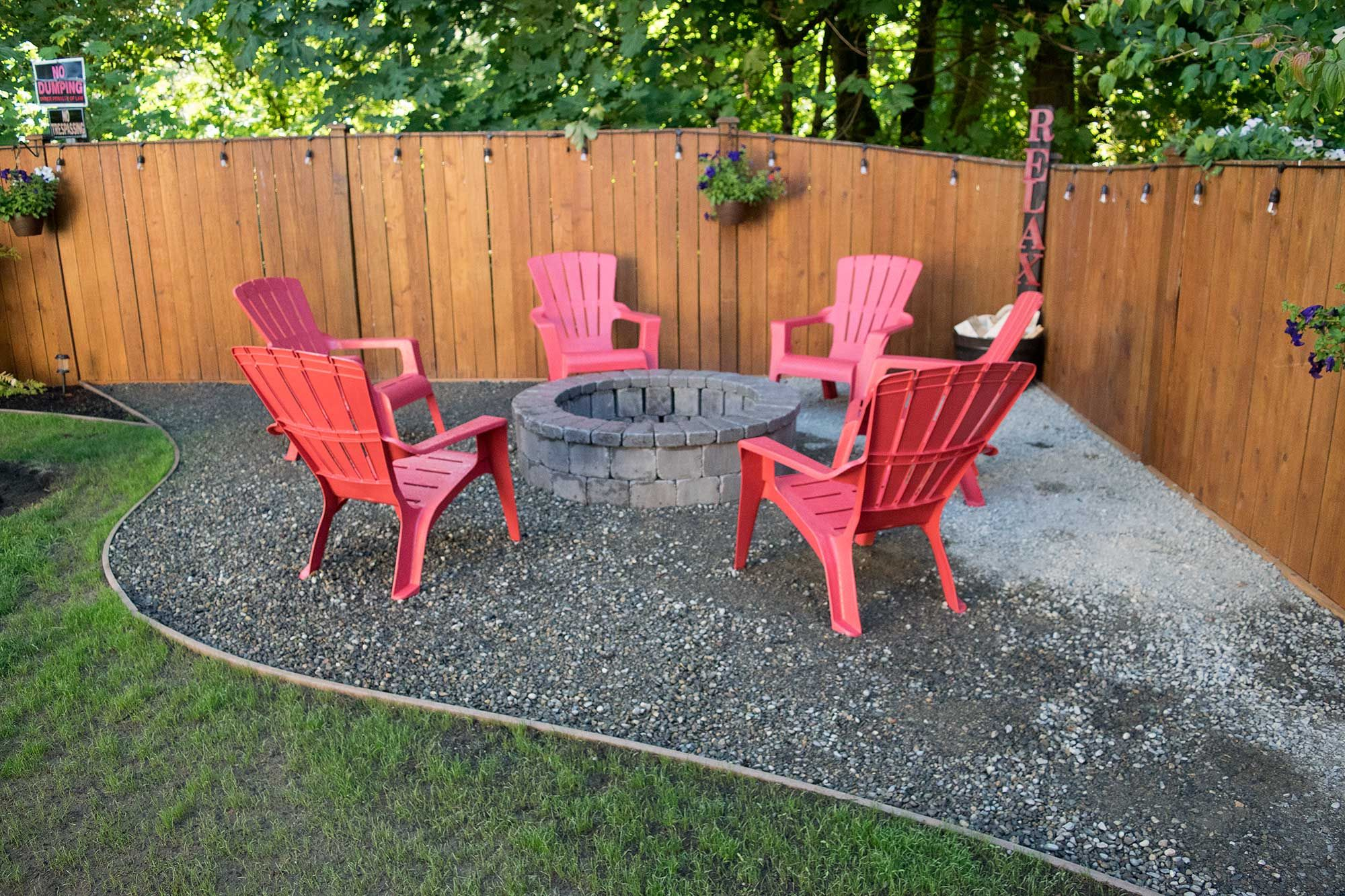 fire pits like this one are a great way to add variety and on backyard fire pit landscaping id=41369