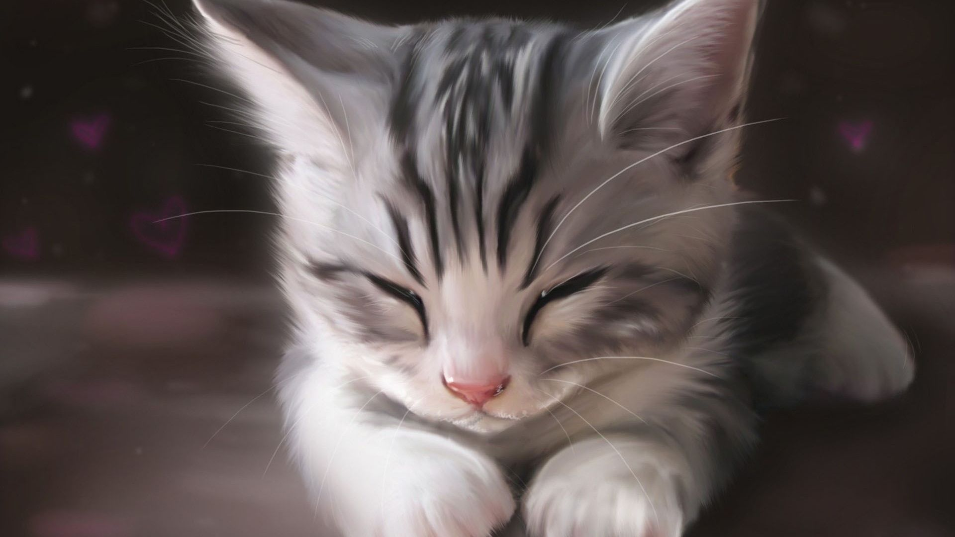Art Original Drawings And More All By Me Sleeping Kitten Kittens Cutest Adorable Kittens Funny