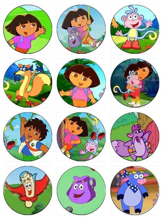 Edible Dora The Explorer Cupcake Toppers 12 Edible Images