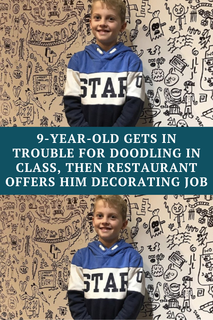 9 Year Old Gets In Trouble For Doodling In Class Then Restaurant