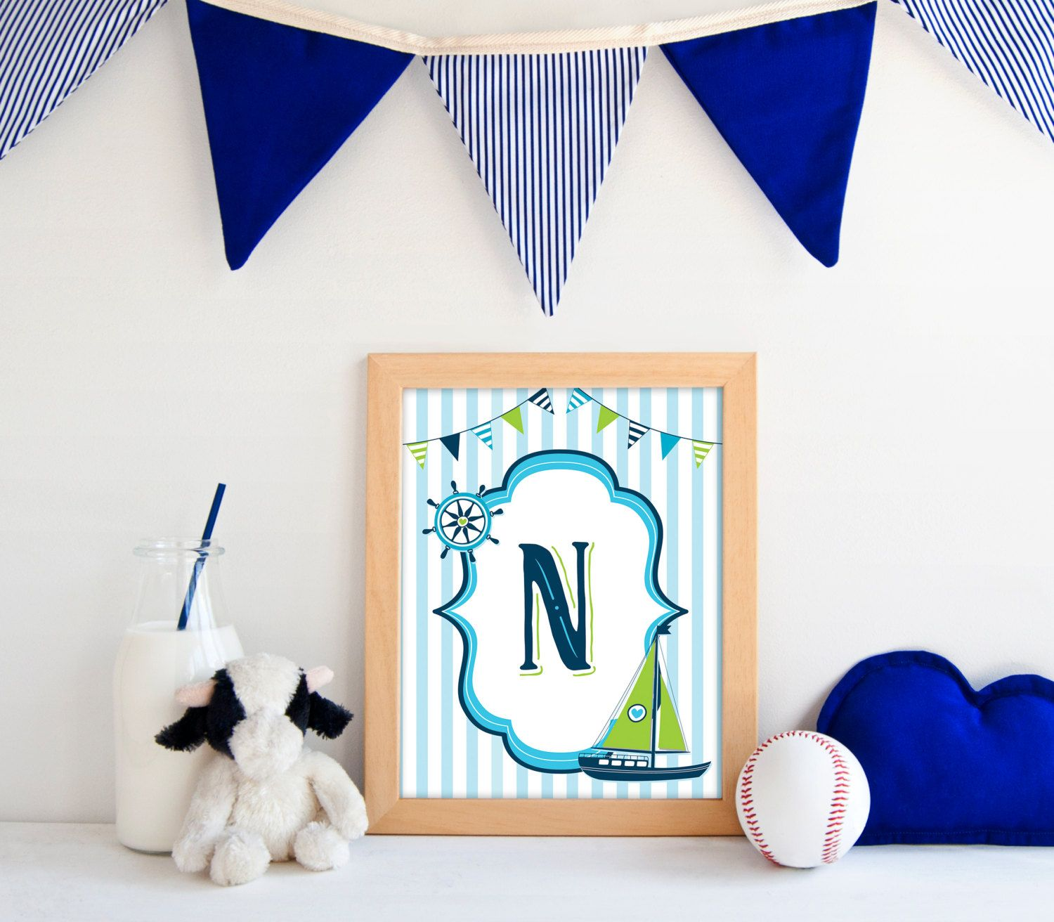 Nautical Nursery Decor  Boy Nursery  Printable Art