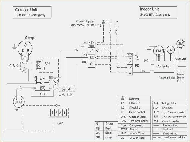 Wiring Diagram For Trane Air Conditioner To Her With