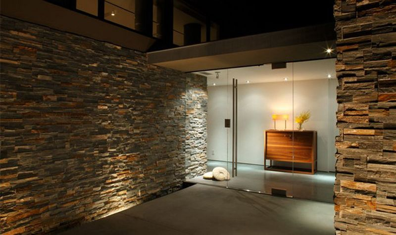 Love interior stone wall So elegant and unique Easy to do with