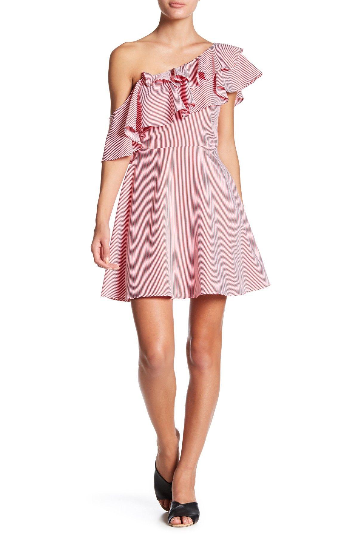 Just Me Ruffle One Shoulder Dress | Pinterest | Shoulder dress and ...