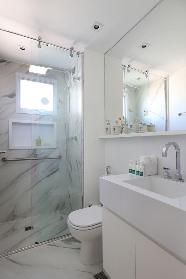 Porcelanato que imita marmore banheiros pinterest for Porcelanato para banos