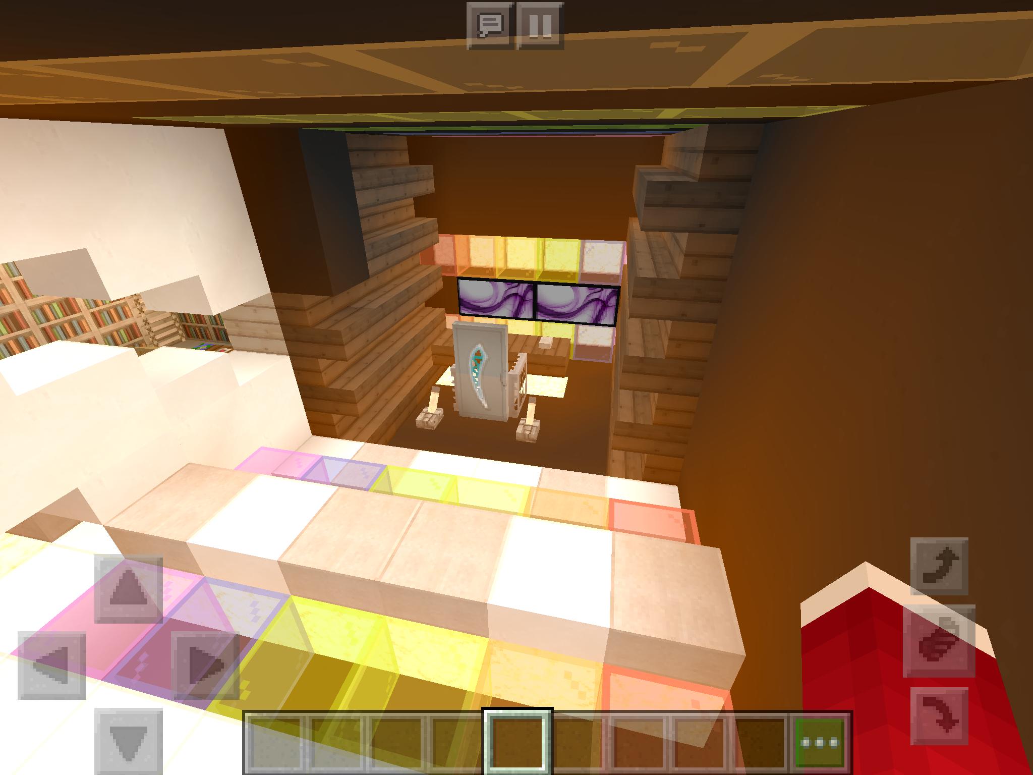 Rainbow Gaming Room Minecraft Game Room Fun Slide Fun