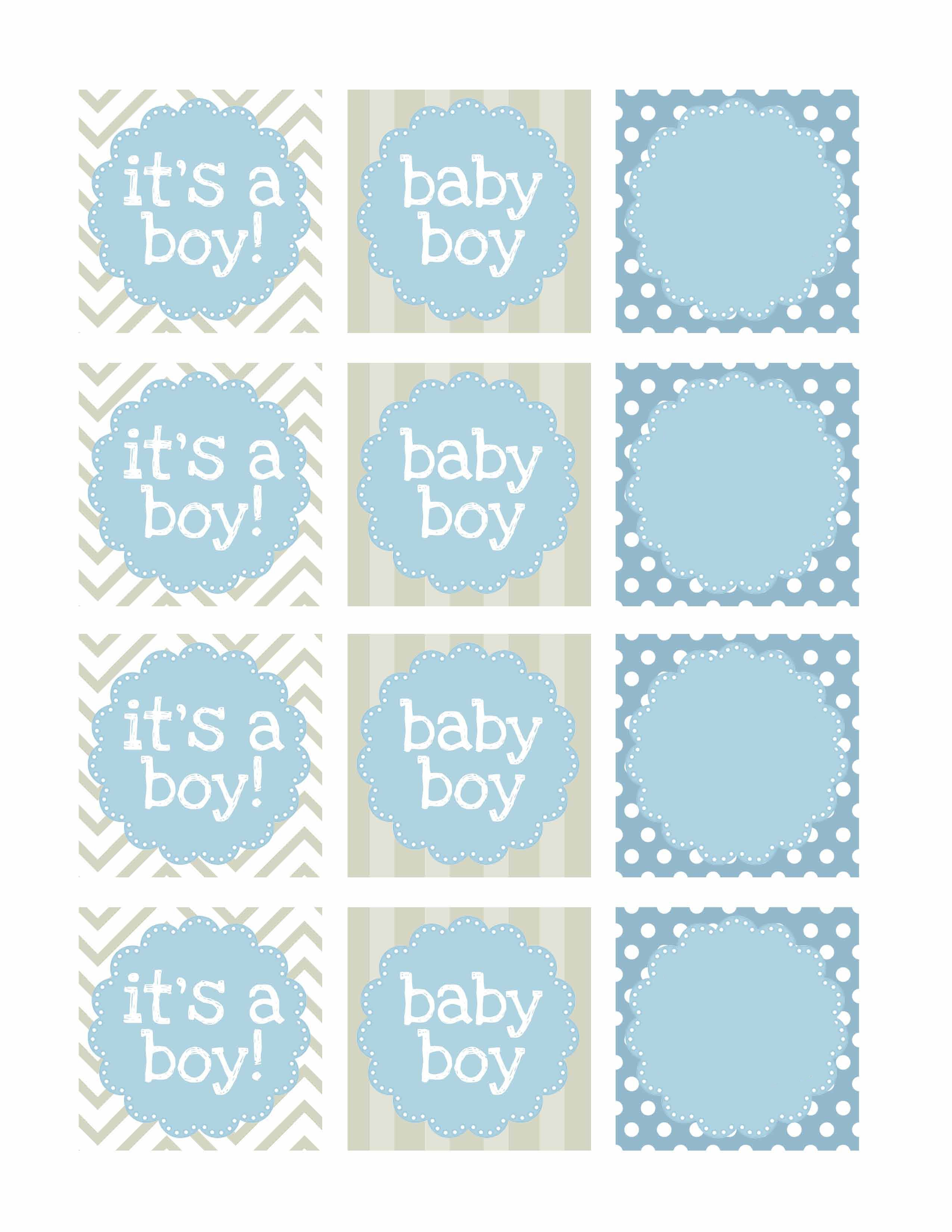Boy baby shower free printables shower banners baby boy shower and boy baby showers for Printable baby shower tags
