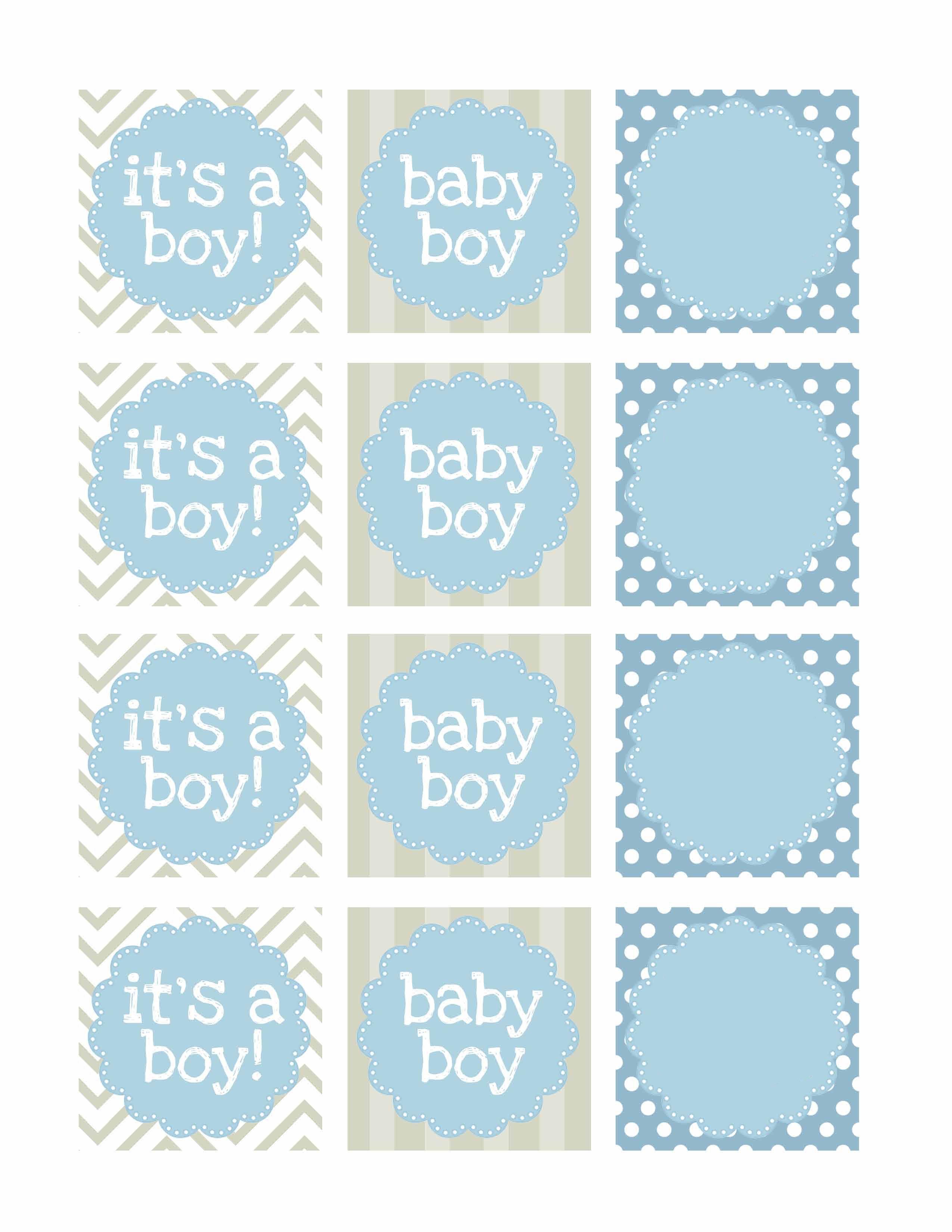 Boy Baby Shower Free Printables