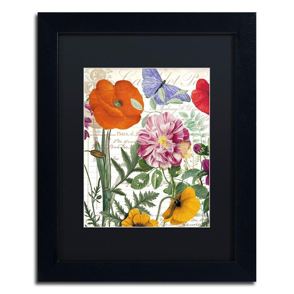 Trademark Fine Art Printemps Floral Framed Wall Art Art Framed