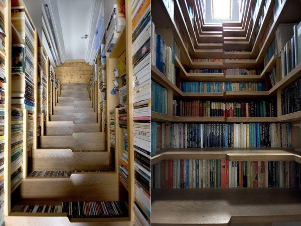 The innovative staircase library designed by Levitate Architects London. 20 Beautiful Private and Personal Libraries \u2013 Flavorwire & 20 Beautiful Private and Personal Libraries   Architects london ...